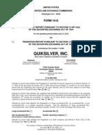 ZQK_Q3_2010_Form_10-Q
