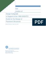 Design Subgrade in Support of AASHTO Design