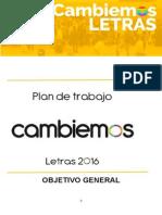 Plan de Trabajo - Cambiemos Letras 2016