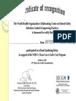 Global Hand Sanitizing Relay - Certificates