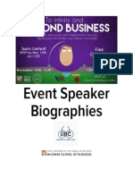 Beyond Business Speaker Packet Fall 2015