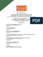 Acypl March11 Delegates