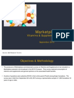 Marketplace Supplements Survey