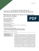 Analise Bioquimica Fluido Salivar