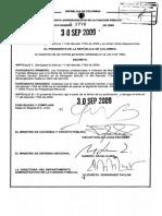 Decreto 3770 de 2009