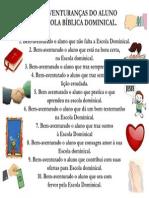 BEM-AVENTURANÇAS DO ALUNO DA ESCOLA DOMINICAL