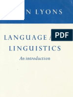 Language and Linguistics an Introduction