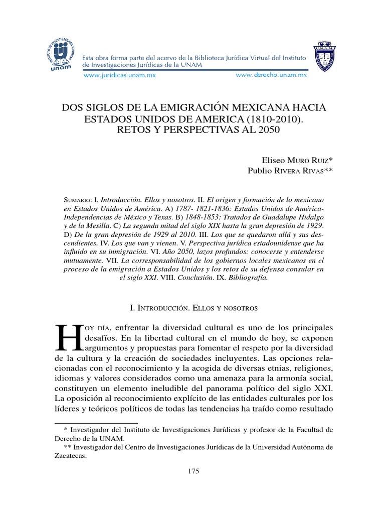 2 SIGLOS DE LA EMIGRACION MEXICANA HA EUA. RETOS Y PERSPECTIVAS.pdf