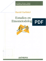GARFINKEL. EstudiosEtnometodología.