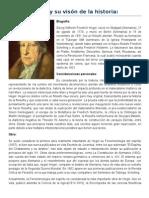 Hegel y Su Visón de La Historia