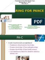 Preparing for the PANCE