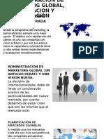 Administracion de Marketing Global, Planificacion y Organización