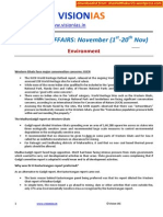 Current Affairs Environment November (1st 20th Nov )[shashidthakur23.wordpress.com]