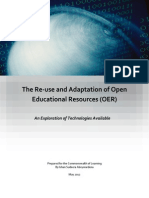 A report on the Re-use and Adaptation of Open Educational Resources (OER)