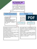 Mapa Conceptual. Fuentes Del Curriculum.