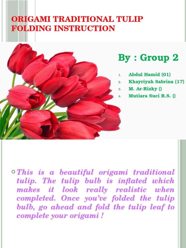 Origami Traditional Tulip Folding Instruction