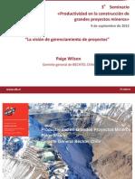La Vision de Gerenciamiento de Proyectos Paige WIlson Bechtel Chile