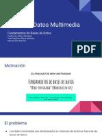 Bases de Datos Multimedia