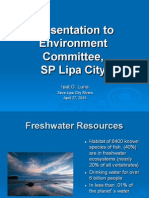 Presentation to Environment Committee