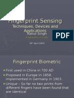 Fingerprint Sensing