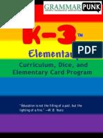 k-3 Elementary card program