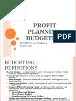 Acc 2203 Workshop Budgeting