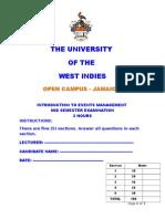 2014- Christmas - UWI Events Mgmt Final Semester  Examination (1).doc
