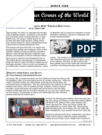March 2008 Newsletter