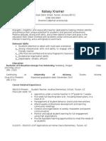 kramer education resume