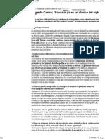 """Edgardo Castro. """"Foucault ya es un clásico del siglo XX"""". Revista Ñ. 12-10-2011.pdf"""