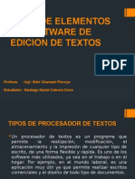 Tipos de Elementos de Software de Edicion De