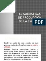 2segunda El Subsistema de Producción de La Empresa