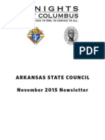 Arkansas Knights of Columbus Newsletter November 2015
