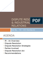 Dispute Resolution and Industrial Relations