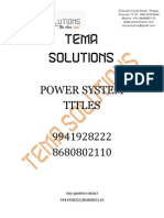 Latest Power System Projects 2015