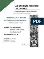 Bromatologia Bases Volatiles Totales