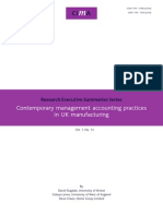 Contemporary Management Accounting Practices in UK Manufacturing