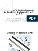 Introduction to Casting Processes by Stead Fast Engineers Pvt Ltd – Part 2