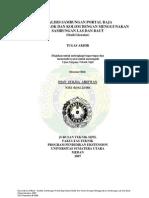 Analisis Sambungan Portal Baja Antara Balok & Kolom Dengan Menggunakan Sambungan Las & Baut