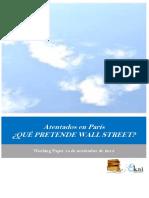 Atentados en Paris. ¿QUE PRETENDE WALL STREET?