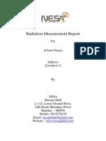 Sample Radiation Report