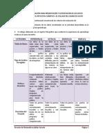 Rúbrica de Evaluación Para Presentación de Las Gráficas Sesion 5 y Sesion 3 Collage