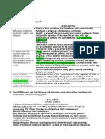 Better Health Dot Point (HSC Biology)