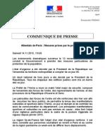 Communiqué de la préfecture de l'Yonne