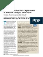 Alternative Treatments to Replacement of Defective Amalgam Restorations