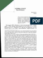 Elio Jucci Guerra e Pace. Note di lettura, in Bibbia e Oriente, 227 48.1 (2006)