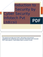 An Introduction to Cyber Security by Cyber Security Infotech Pvt Ltd(Csi)