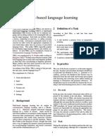 Task-based Language Learning
