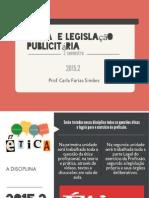 Ética e Legislação Publicitária