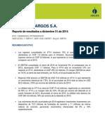 Cementos Argos - 4T2014 Reporte
